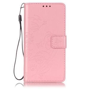 Magicfly knížkové pouzdro na telefon Huawei P9 Lite - růžové - 1