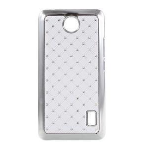 Drahokamový kryt na Huawei Y635 - bílý - 1