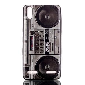 Jelly gelový obal na mobil Lenovo A6000 - retro kazeťák - 1