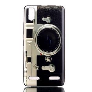 Jelly gelový obal na mobil Lenovo A6000 - retro foťák - 1