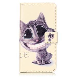 Knížkové pouzdro na mobil Lenovo Vibe K5 / K5 Plus - kočka - 1