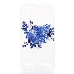 Softy gelový obal na mobil Lenovo Vibe K5 / K5 Plus - modré květiny - 1