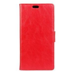 Knížkové PU kožené pouzdro na Lenovo Vibe K5 / K5 Plus - červené - 1