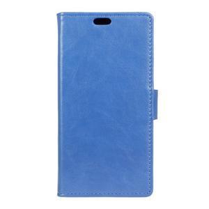 Knížkové PU kožené pouzdro na Lenovo Vibe K5 / K5 Plus - modré - 1