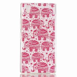 Softy gelový obal na mobil Lenovo P70 - růžoví sloni - 1