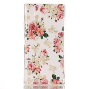 Softy gelový obal na mobil Lenovo P70 - květiny - 1