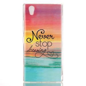 Softy gelový obal na mobil Lenovo P70 - nepřestávej snít - 1