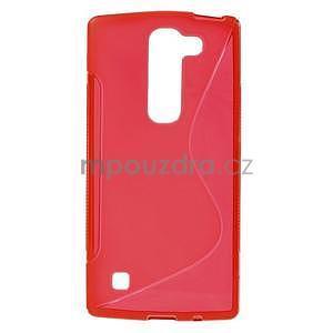 S-line gelový obal na LG Spirit 4G LTE - červený - 1