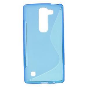 S-line gelový obal na LG Spirit 4G LTE - modrý - 1