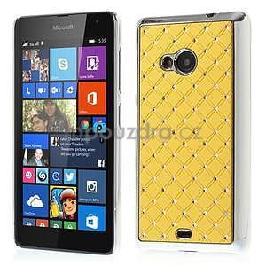 Drahokamový kryt na Microsoft Lumia 535 - žlutý - 1