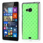 Drahokamový kryt na Microsoft Lumia 535 - zelený - 1/5