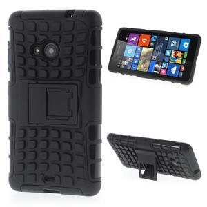 Vysoce odolný obal pro Microsoft Lumia 535 - černý - 1