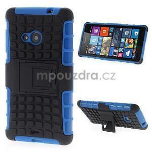 Vysoce odolný obal pro Microsoft Lumia 535 - modrý - 1