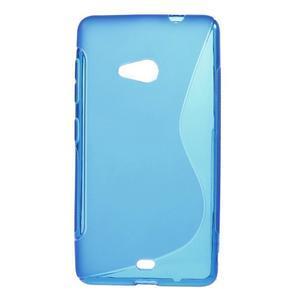 Gelový obal na Microsoft Lumia 535 - modrý - 1