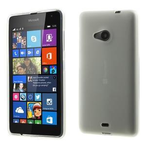 Matný gelový obal Microsoft Lumia 535 - bílý - 1