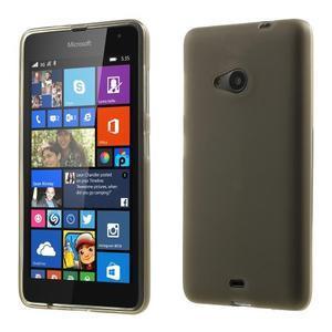 Matný gelový obal Microsoft Lumia 535 - šedý - 1