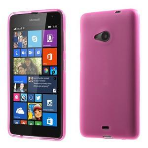 Matný gelový obal Microsoft Lumia 535 - rose - 1