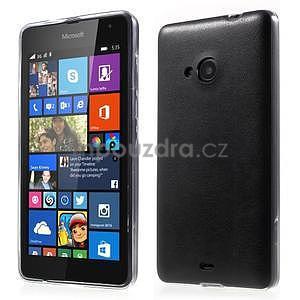 Ultra tenký kryt s jemnými koženkovými zády Microsoft Lumia 535 - černý - 1