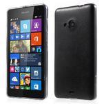 Ultra tenký kryt s jemnými koženkovými zády Microsoft Lumia 535 - černý - 1/6