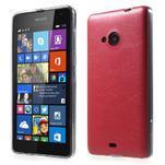 Ultra tenký kryt s jemnými koženkovými zády Microsoft Lumia 535 - červené - 1/5