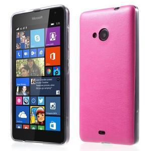 Ultra tenký kryt s jemnými koženkovými zády Microsoft Lumia 535 - rose - 1