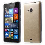 Ultra tenký kryt s jemnými koženkovými zády Microsoft Lumia 535 - champagne - 1/6