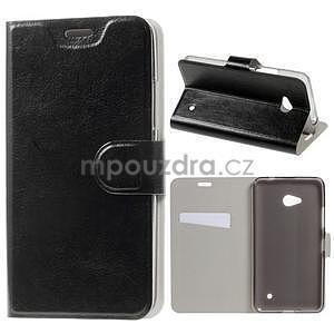 Černé peněženkové pouzdro na Microsoft Lumia 640 LTE - 1