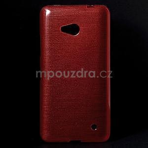 Broušený gelový obal na Microsoft Lumia 640 LTE - červený - 1