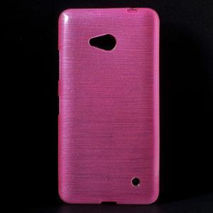 Broušený gelový obal na Microsoft Lumia 640 LTE - rose - 1
