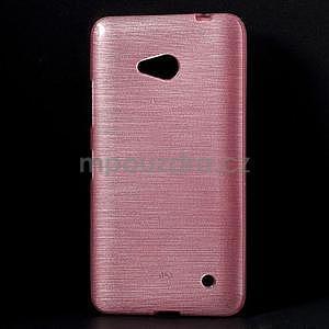 Broušený gelový obal na Microsoft Lumia 640 LTE - růžový - 1