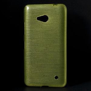 Broušený gelový obal na Microsoft Lumia 640 LTE - zelený - 1