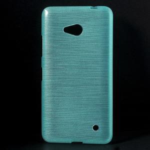 Broušený gelový obal na Microsoft Lumia 640 LTE - modrý - 1