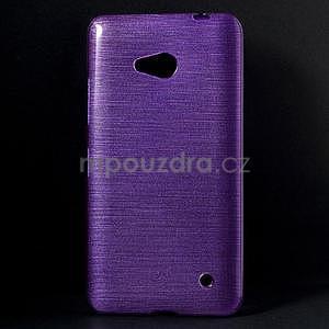 Broušený gelový obal na Microsoft Lumia 640 LTE - fialový - 1