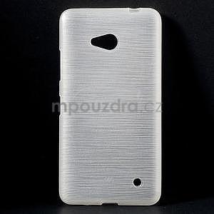 Broušený gelový obal na Microsoft Lumia 640 LTE - bílý - 1
