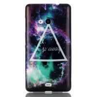 Soft gelový obal na mobil Microsoft Lumia 535 - triangl - 1/3