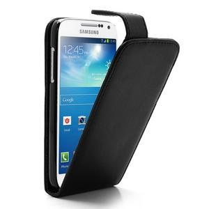 Flipové pouzdro na Samsung Galaxy S4 mini - černé - 1