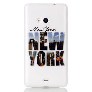 Soft gelový obal na mobil Microsoft Lumia 535 - New York - 1