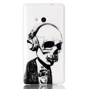 Soft gelový obal na mobil Microsoft Lumia 535 - skull - 1