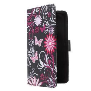 Cross peněženkové pouzdro na Huawei Honor 7 - kouzelní motýlci - 1