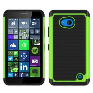 Odolný hybridní kryt na mobil Microsoft Lumia 640 - zelený - 1