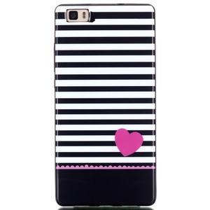 Gelový obal na mobil Huawei Ascend P8 Lite - srdce - 1
