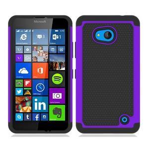 Odolný hybridní kryt na mobil Microsoft Lumia 640 - fialový - 1