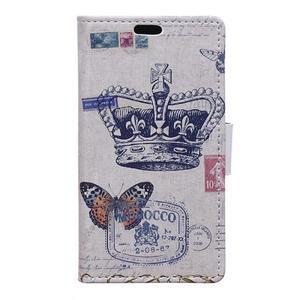Peněženkové pouzdro na mobil Microsfot Lumia 550 - královská koruna - 1