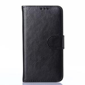 Koženkové pouzdro na mobil Huawei Ascend P8 - černé - 1
