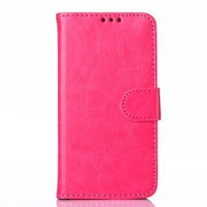 Koženkové pouzdro na mobil Huawei Ascend P8 - rose - 1