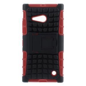 Outdoor odolný kryt na Nokia Lumia 730/735 - červený - 1