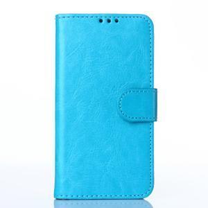 Koženkové pouzdro na mobil Huawei Ascend P8 - modré - 1