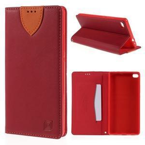 Style peněženkové pouzdro na Huawei Ascend P8 - červené - 1