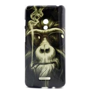 Soft gelový obal na Asus Zenfone 5 - kouřící orangutan - 1