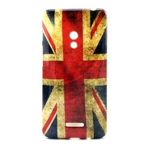 Soft gelový obal na Asus Zenfone 5 - UK vlajka - 1